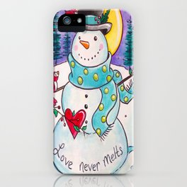 Love Never Melts iPhone Case