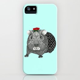 Ms Guinea Pig is dressed up and ready to go party iPhone Case
