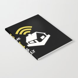Geek: Home Is Where The Wifi Connects Automatically T-Shirt Notebook