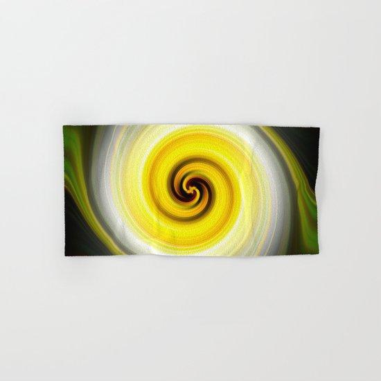 Twirl Yellow Hand & Bath Towel