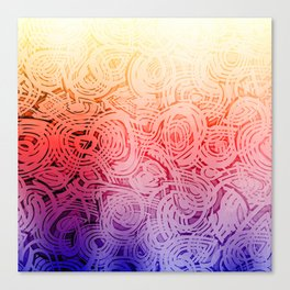 Groovy Bright Design Canvas Print