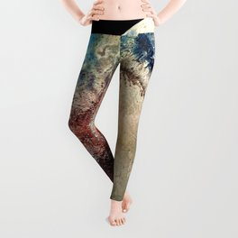 Planet Pluto Deep Space Space Craft Pass By Telescopic Photograph Leggings