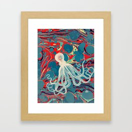 Vintage Octopus Framed Art Print