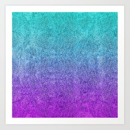 Tropical Twilight Glitter Gradient Art Print