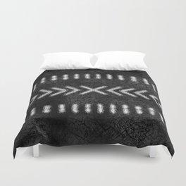 Minimalist Tribal Design in black and white Duvet Cover
