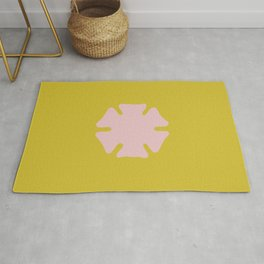 asterisk flower yellow Rug