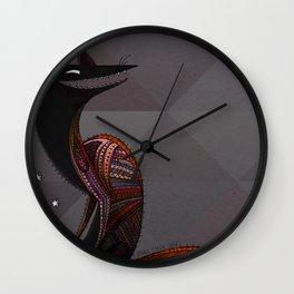 Mexican folk art coyote, Oaxacan style Wall Clock