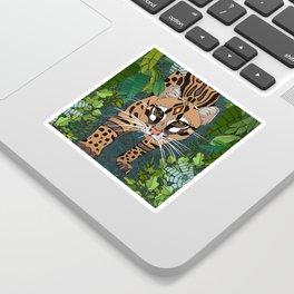 ocelot jungle nightshade Sticker
