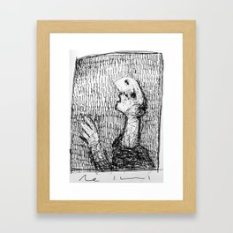 """Questions"" ~ Pen and Ink Sketchbook Drawing Framed Art Print"