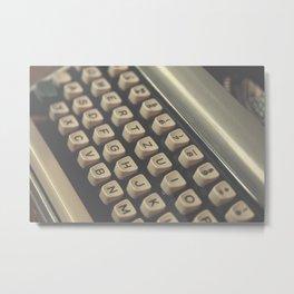 Closeup of vintage typewriter keys Metal Print