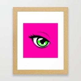Confident Pink Heroine Framed Art Print