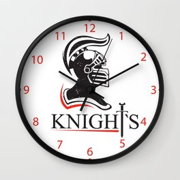 medieval helmet  Wall Clock