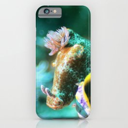 Ethereal nudibranch iPhone Case
