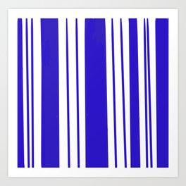 Royal Blue Stripes Art Print