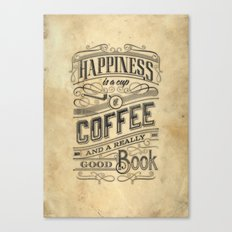 Coffee - Typography v2 Canvas Print
