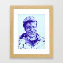 Mark Hero Framed Art Print