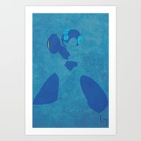 megaman Art Prints featuring Megaman by JHTY