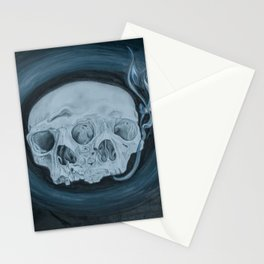 Siamese Skulls Stationery Cards