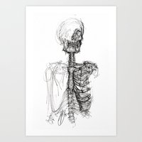 anatomy Art Prints featuring Anatomy  by BunnyBrush