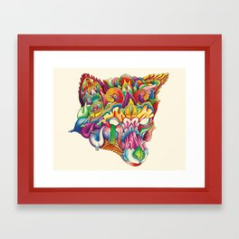 Fox in Armor Framed Art Print