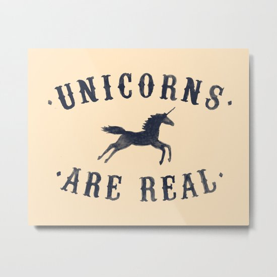Unicorns Are Real II Metal Print