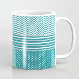Ikat Aqua Chevron Coffee Mug