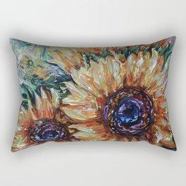 Ah, Sunflower by Lena Owens Rectangular Pillow
