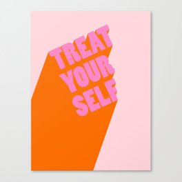 Treat Yourself | Peach Canvas Print