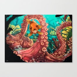 Under the glup... Canvas Print