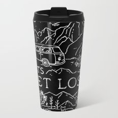 Lets Get Lost (Bw) Metal Travel Mug
