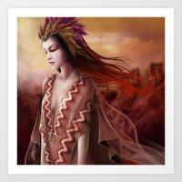 navajo Art Prints featuring Navajo by Nicolas Jamonneau