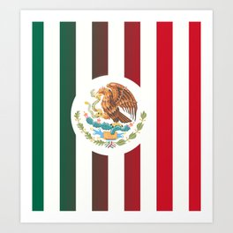 Mexicano Stripes Art Print