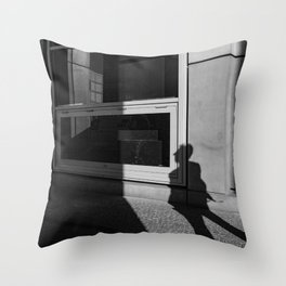 shadow of a walker Throw Pillow