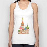 moscow Tank Tops featuring Moscow by Chay Lazaro