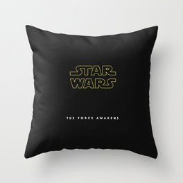 The Force Awakens, Vintage Poster, tar wars, vintage movie poster Throw Pillow