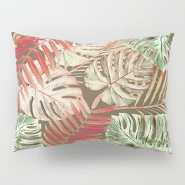 Jungle Tangle Red On Brown Pillow Sham
