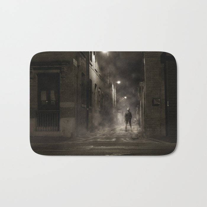 Night street England Bath Mat