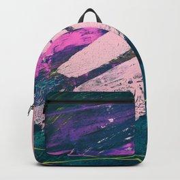 Wonder. - A vibrant minimal abstract piece in jewel tones by Alyssa Hamilton Art Backpack