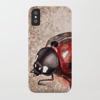 ladybug iPhone & iPod Cases featuring Ladybug by Werk of Art