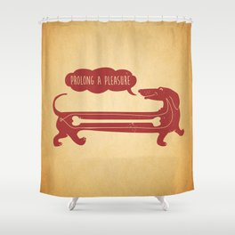 dog's delight Shower Curtain