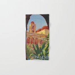 vintage 1920s Palermo Sicily Italian travel ad Hand & Bath Towel