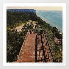 Lake Michigan Overview - Arcadia, MI Art Print