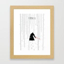 The Force Awakens - Blizzard Framed Art Print