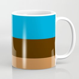 Tri-Color [Blue, Chocolate, Tan] Coffee Mug