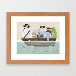 the pirate tub Framed Art Print