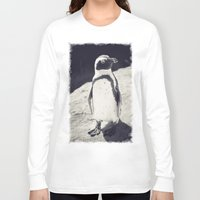 penguin Long Sleeve T-shirts featuring Penguin  by Light Wanderer