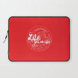 Life is All Right (RED) Laptop Sleeve