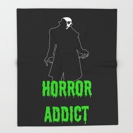 Horror Addict Throw Blanket