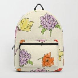 modern floral Backpack