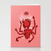 shiva Stationery Cards featuring shiva by takcooper